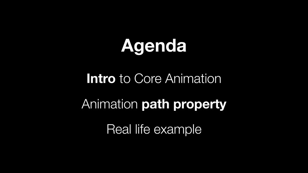 Intro to Core Animation Animation path property...