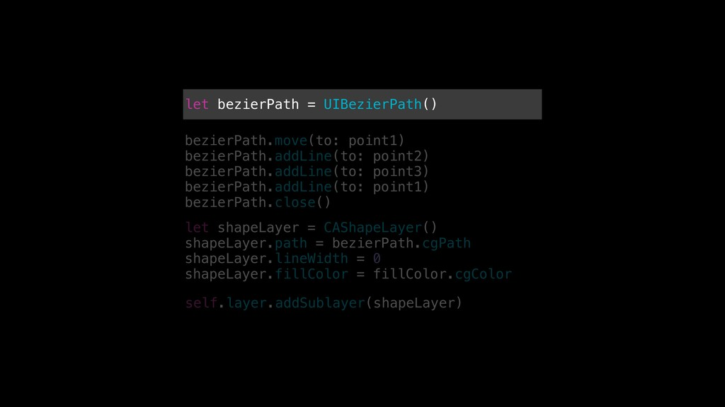 let bezierPath = UIBezierPath() bezierPath.move...