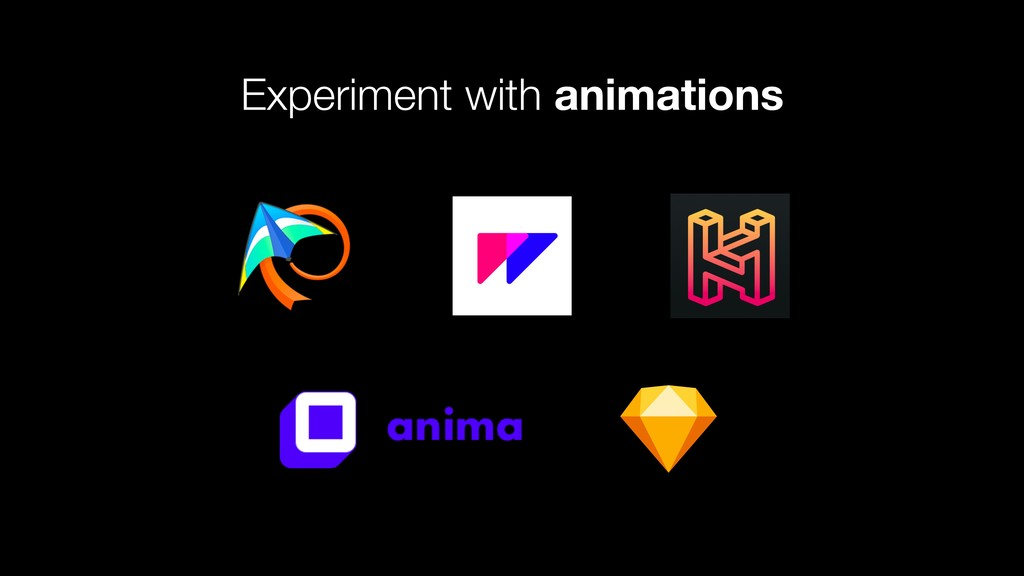 Experiment with animations