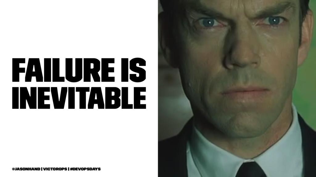 Failure Is Inevitable @jasonhand   VictorOps   ...