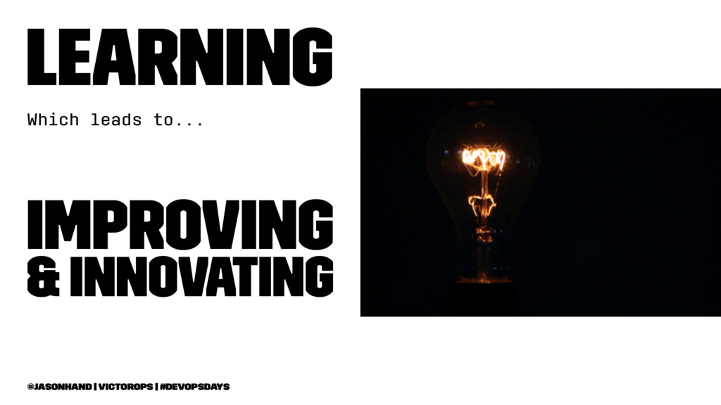 Learning Which leads to... Improving & Innovati...