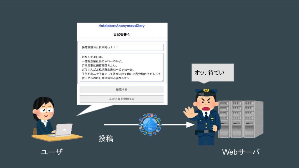 オッ、待てい 投稿 ユーザ Webサーバ