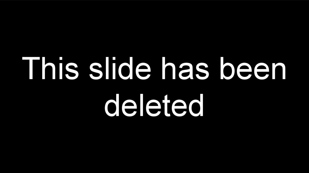 This slide has been deleted