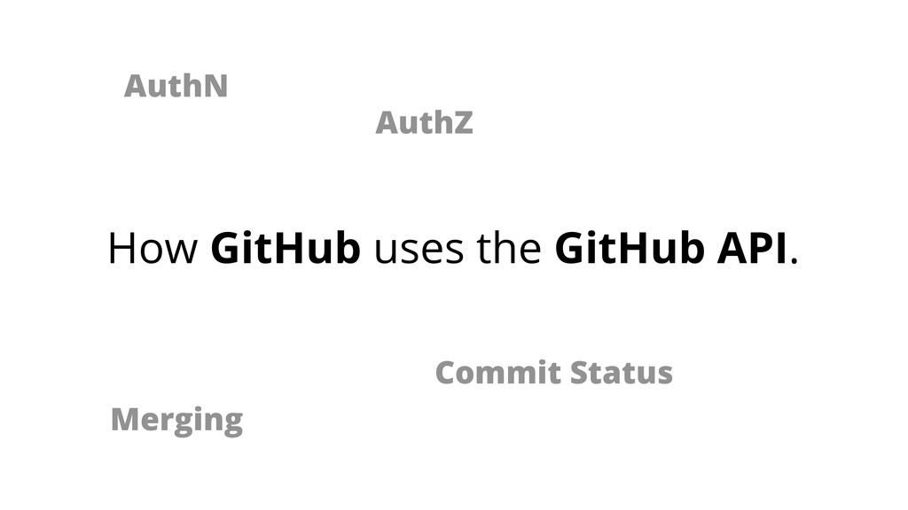AuthN AuthZ Merging Commit Status How GitHub us...
