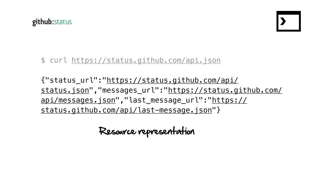 """$ curl https://status.github.com/api.json {""""sta..."""