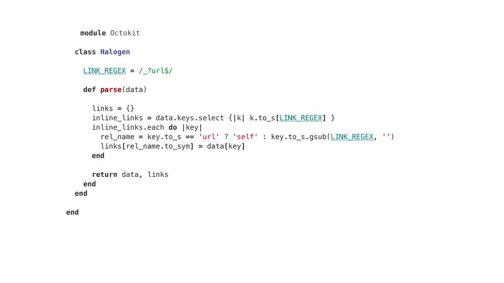 module Octokit class Halogen LINK_REGEX = /_?ur...