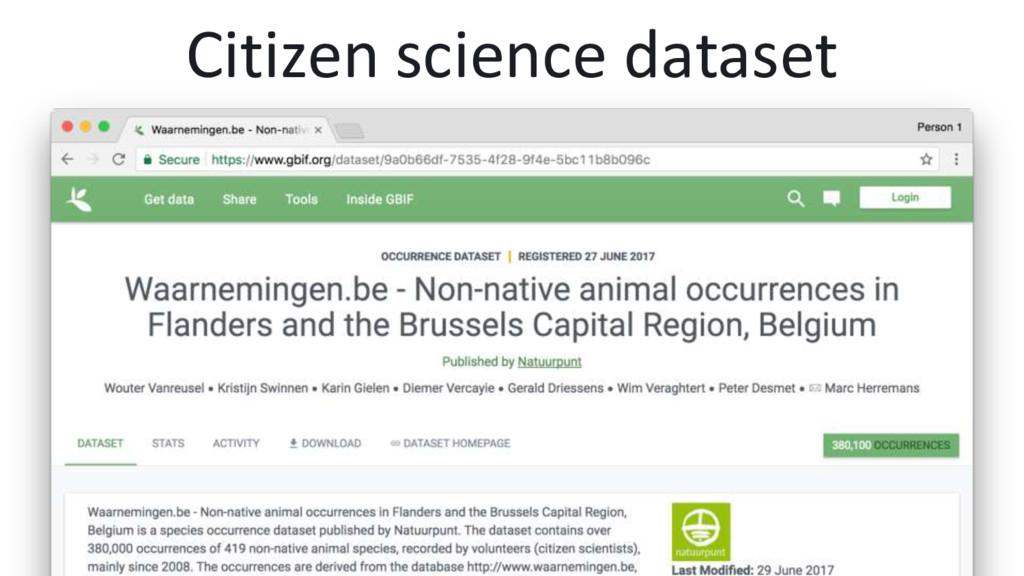 Citizen science dataset