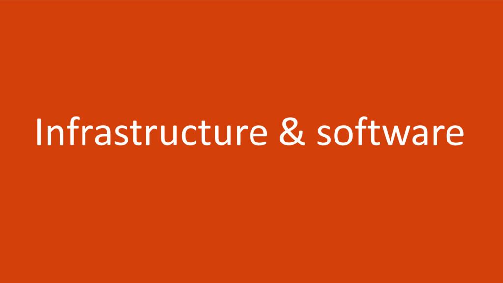 Infrastructure & software