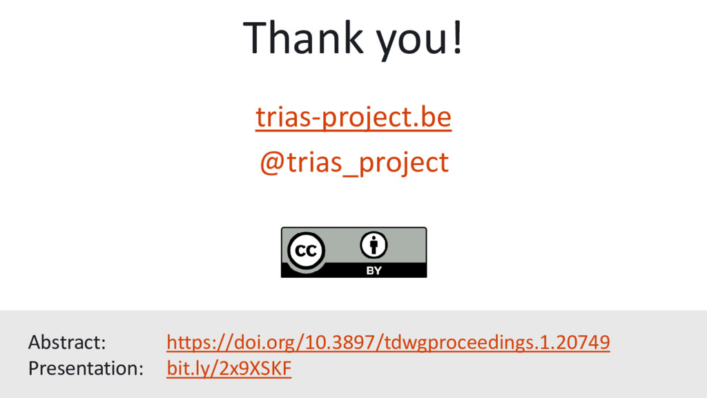trias-project.be @trias_project Thank you! Abst...