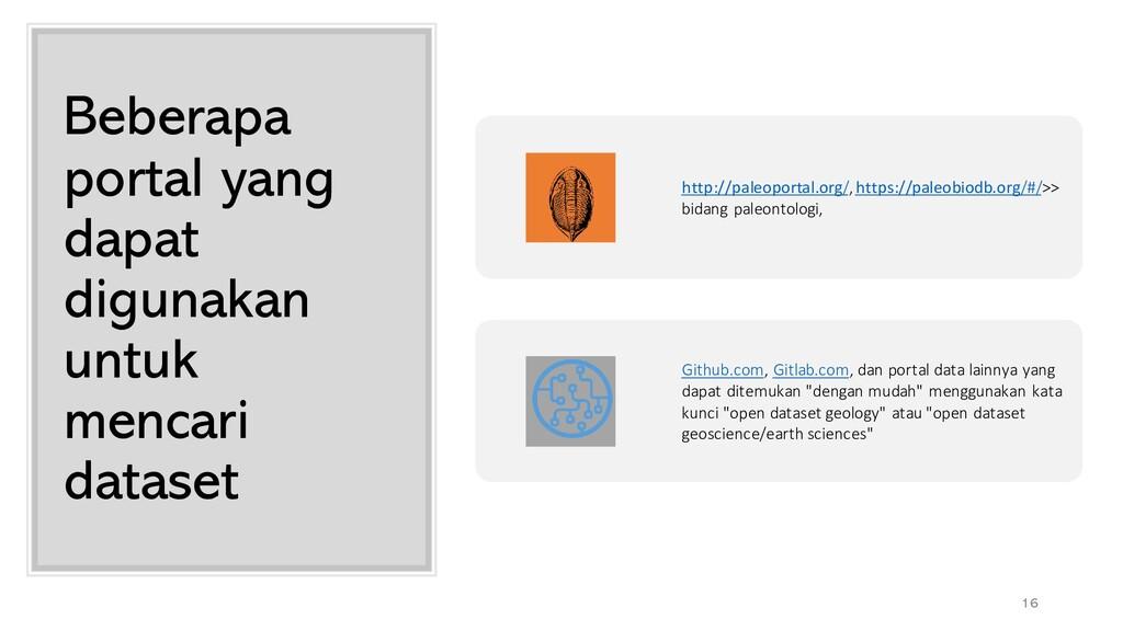 Beberapa portal yang dapat digunakan untuk menc...