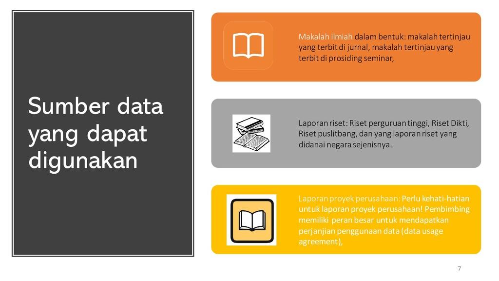 Sumber data yang dapat digunakan 7 Makalah ilmi...