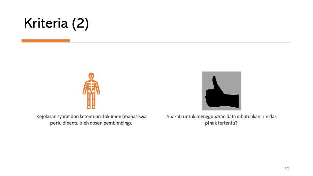 Kriteria (2) 10 Kejelasan syarat dan ketentuan ...