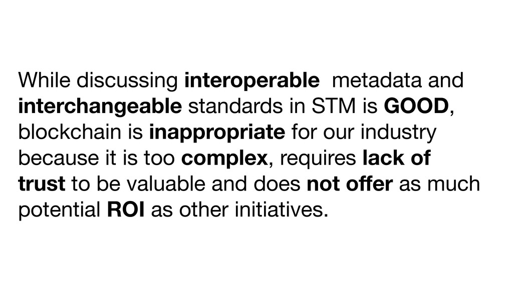 While discussing interoperable metadata and int...
