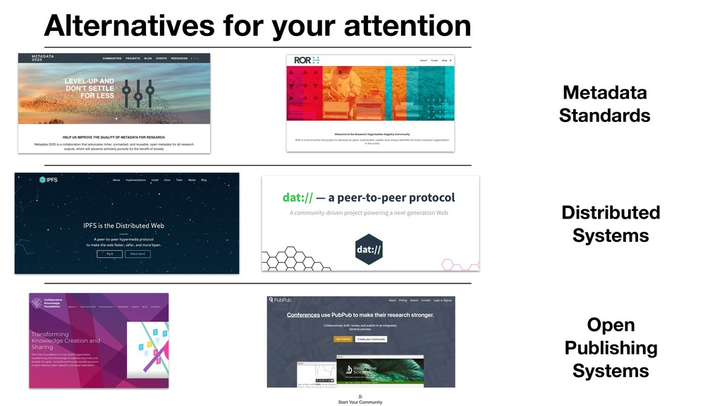 Alternatives for your attention Metadata Standa...