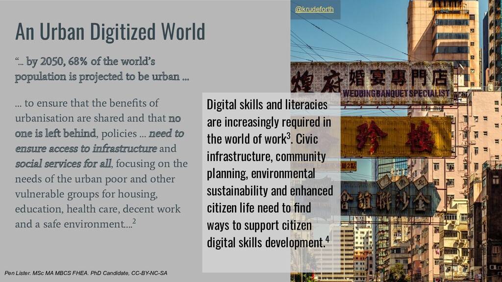 "An Urban Digitized World ""... by 2050, 68% of t..."