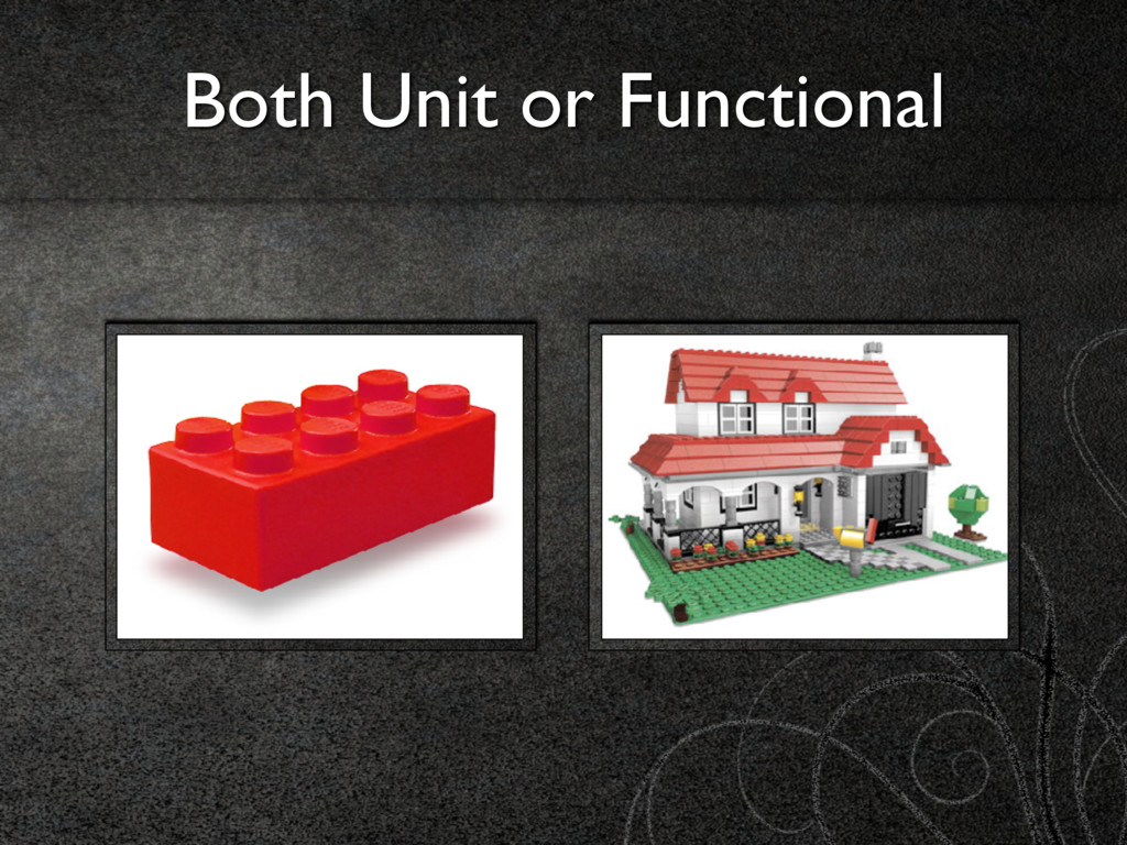 Both Unit or Functional
