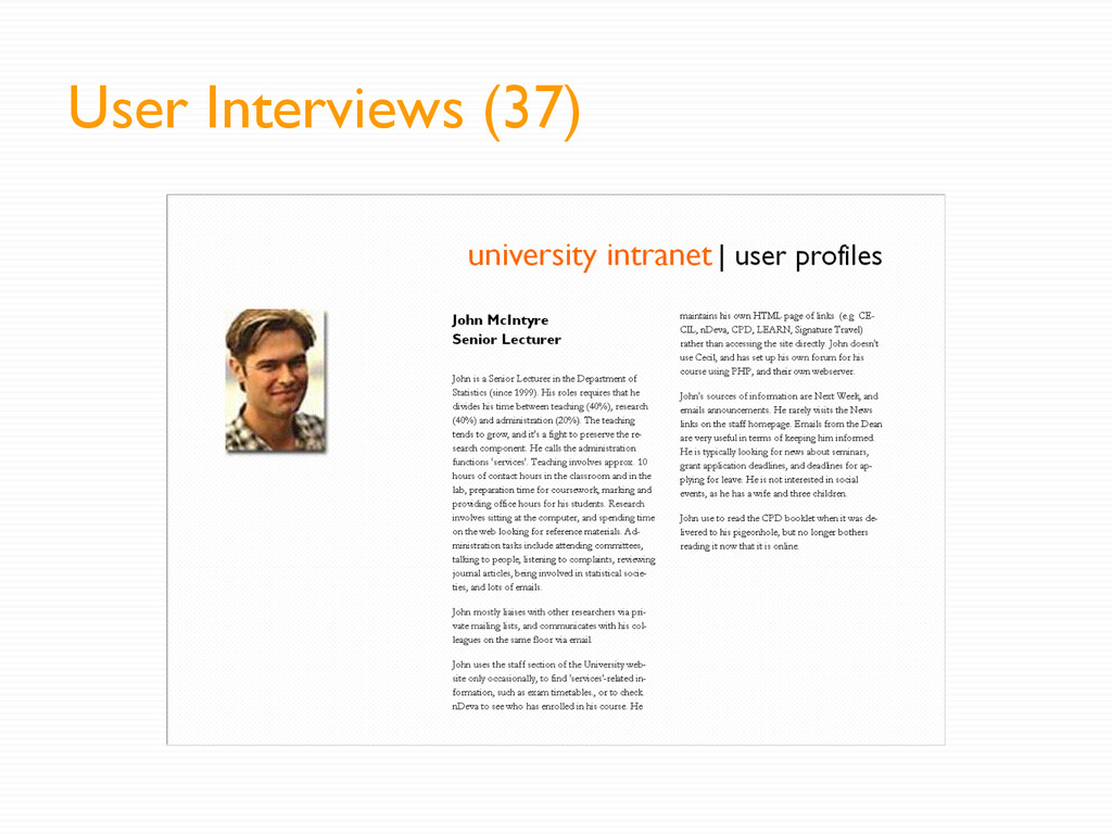 User Interviews (37)