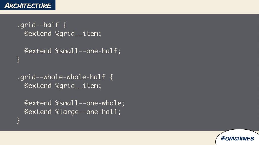 @onishiweb .grid--half { @extend %grid__item; !...