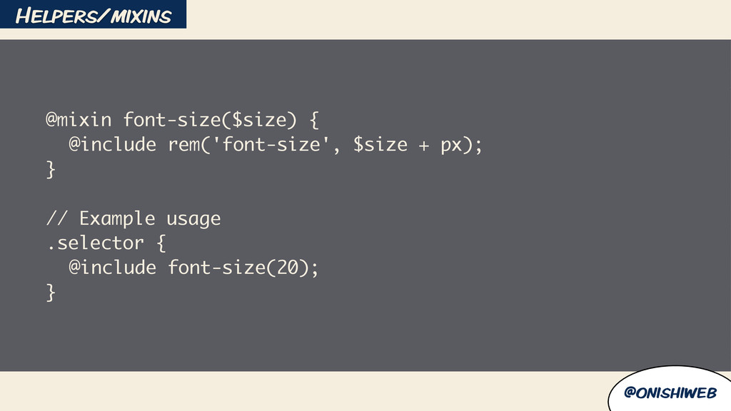 @onishiweb @mixin font-size($size) { @include r...
