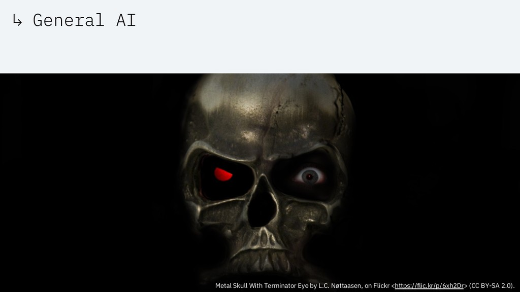 ↳ General AI Metal Skull With Terminator Eye by...