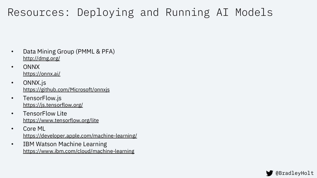Resources: Deploying and Running AI Models • Da...
