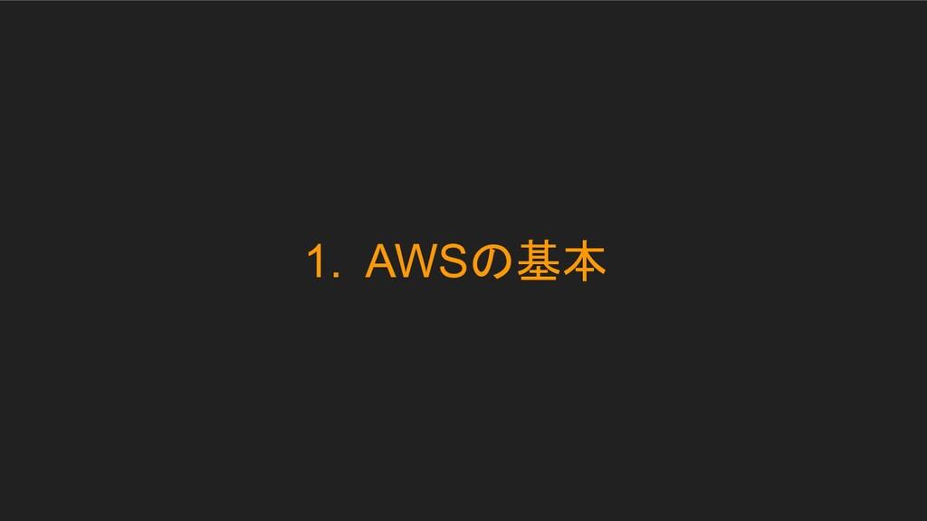 1. AWSの基本