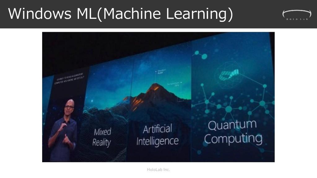 Windows ML(Machine Learning) HoloLab Inc.