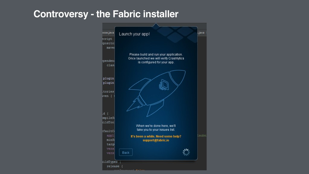Controversy - the Fabric installer