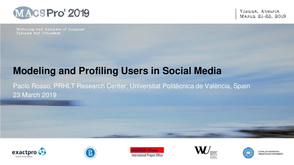 Modeling and Profiling Users in Social Media Pa...