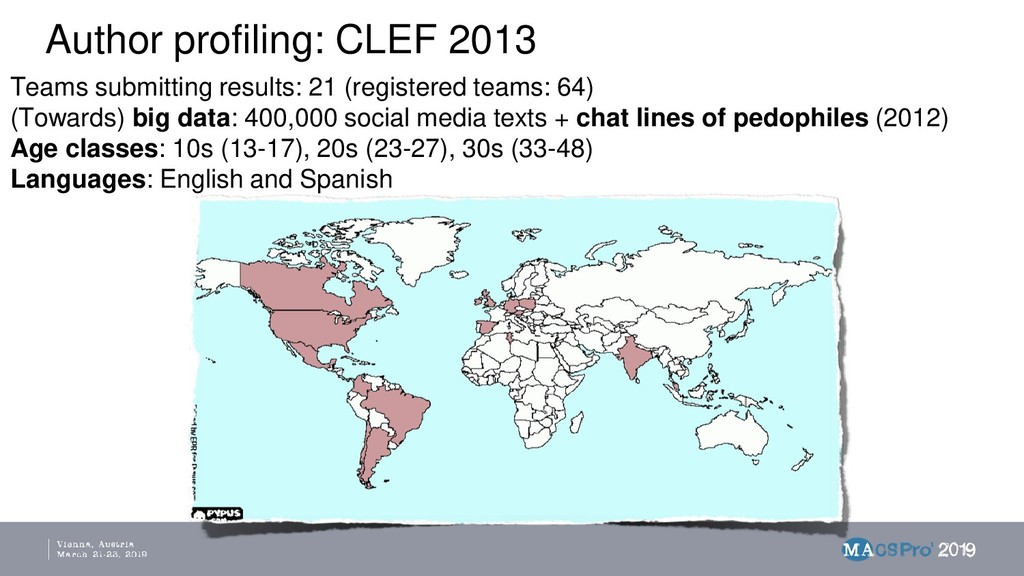 Author profiling: CLEF 2013 Teams submitting re...