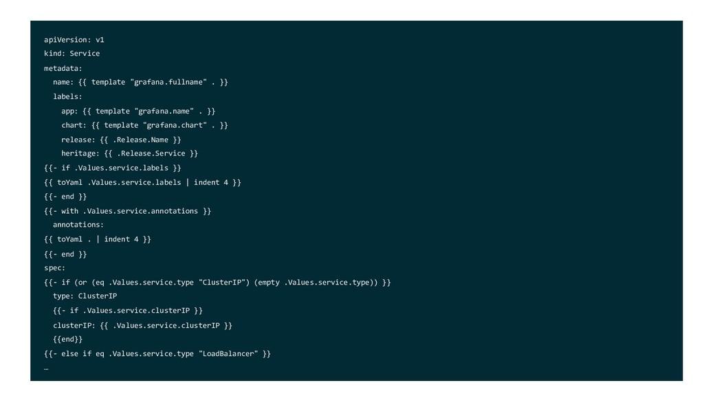 apiVersion: v1 kind: Service metadata: name: {{...