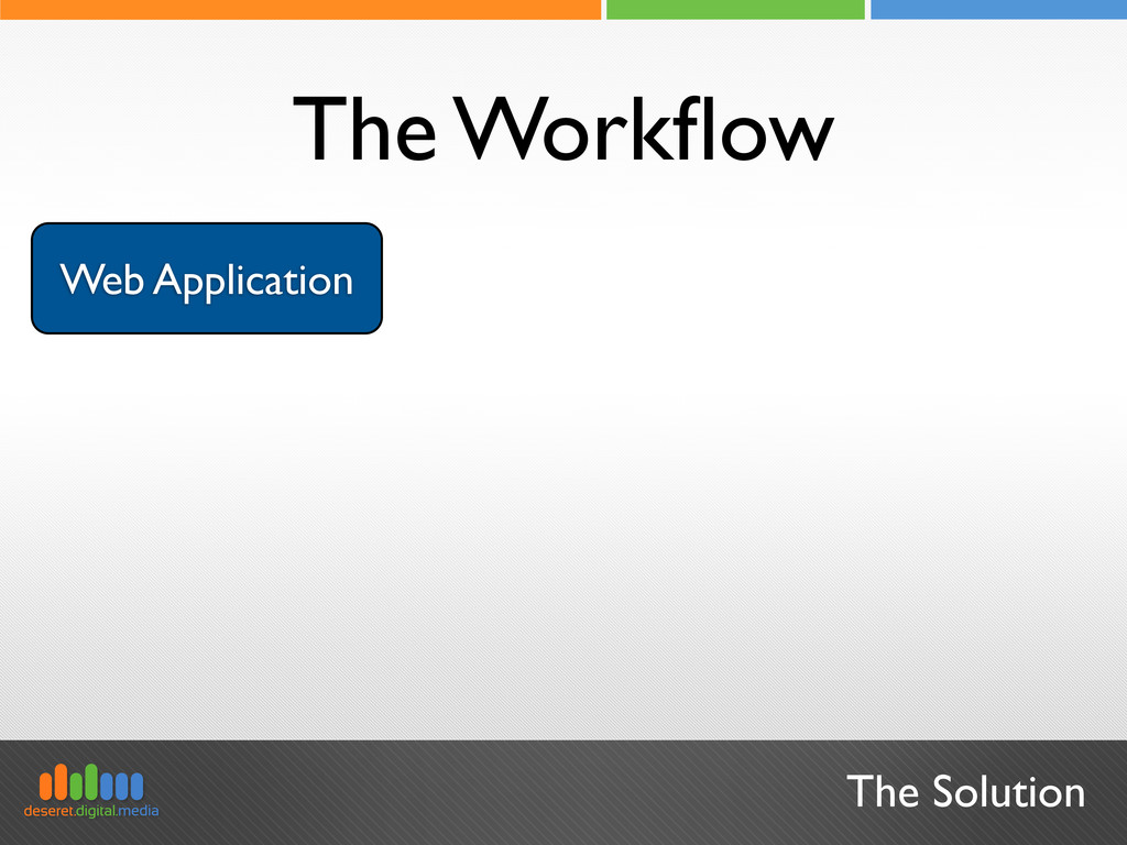 Web Application The Solution The Workflow