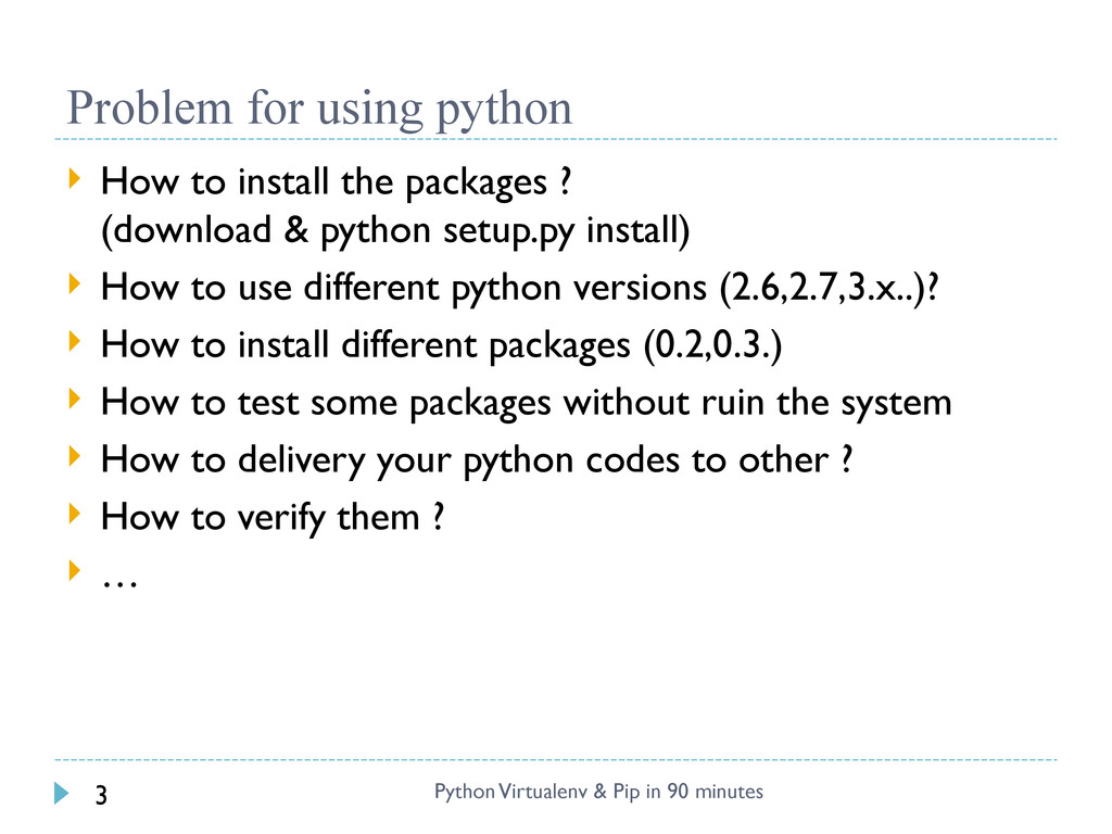 Problem for using python  How to install the p...