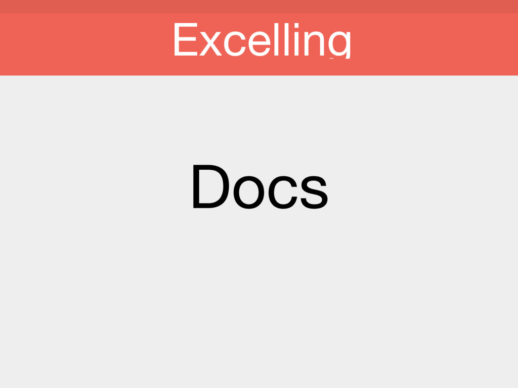 Docs Excelling