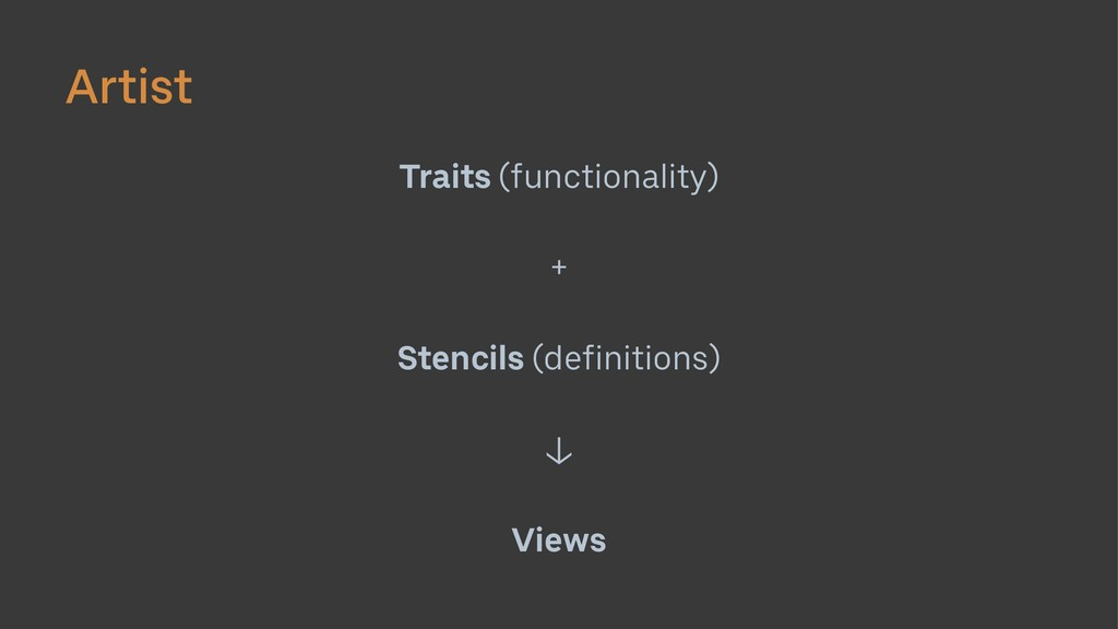 Artist Traits (functionality) + Stencils (defin...
