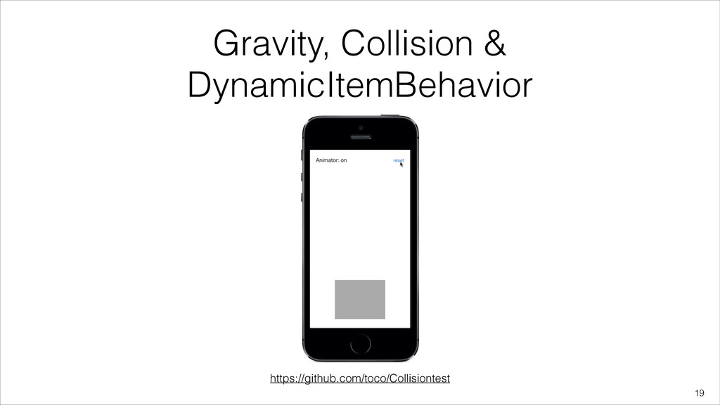 Gravity, Collision & DynamicItemBehavior !19 ht...