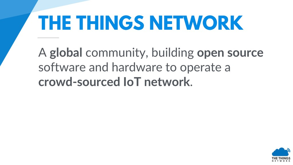 THE THINGS NETWORK A global community, building...