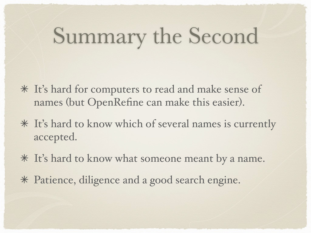 Summary the Second It's hard for computers to r...
