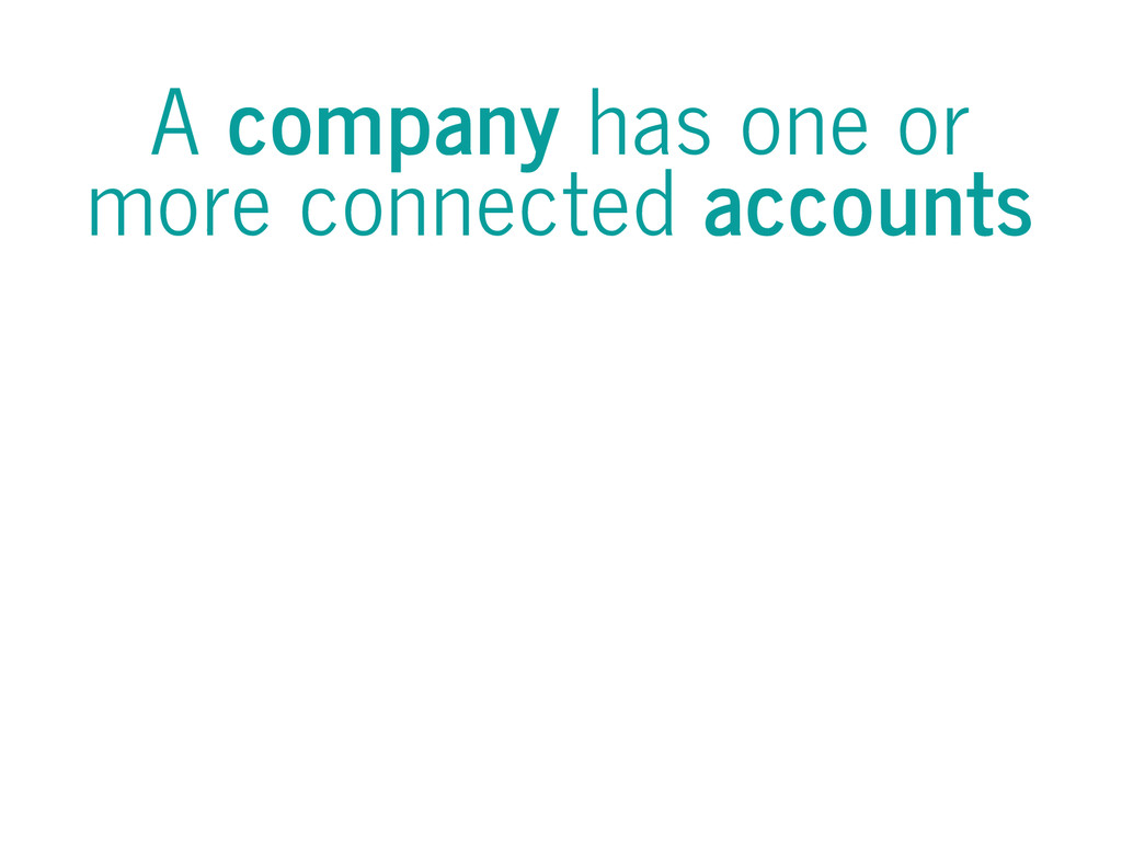 A company has one or more connected accounts