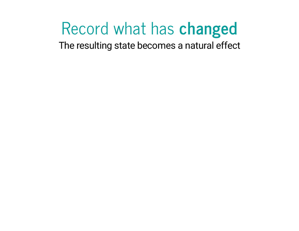 Record what has changed The resulting state bec...