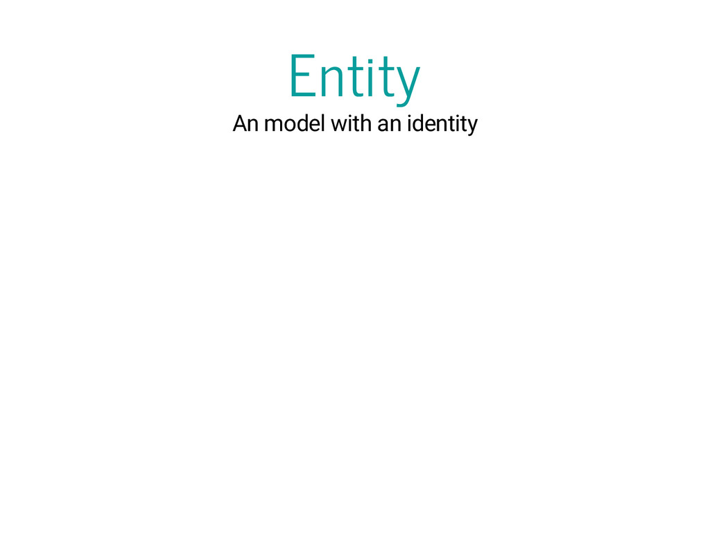 Entity An model with an identity