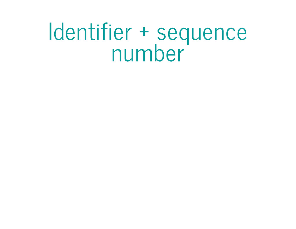 Identifier + sequence number