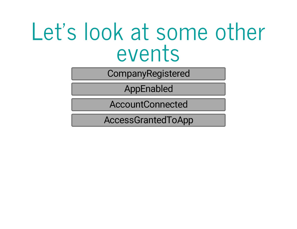 Let's look at some other events CompanyRegister...