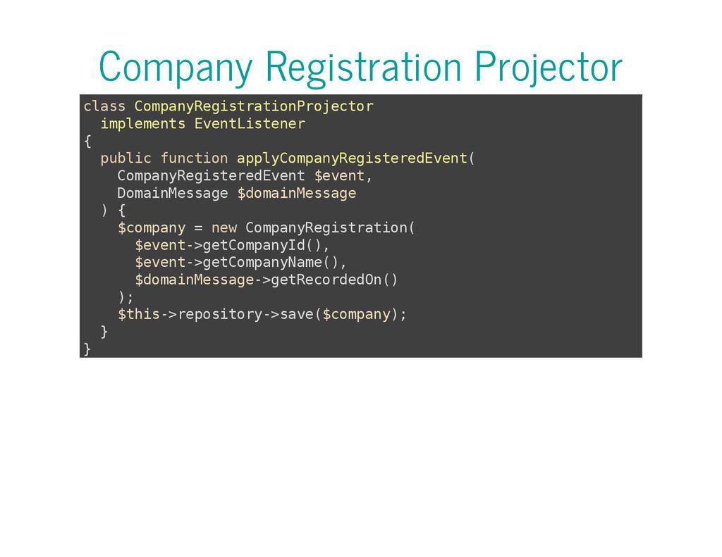 Company Registration Projector c l a s s C o m ...