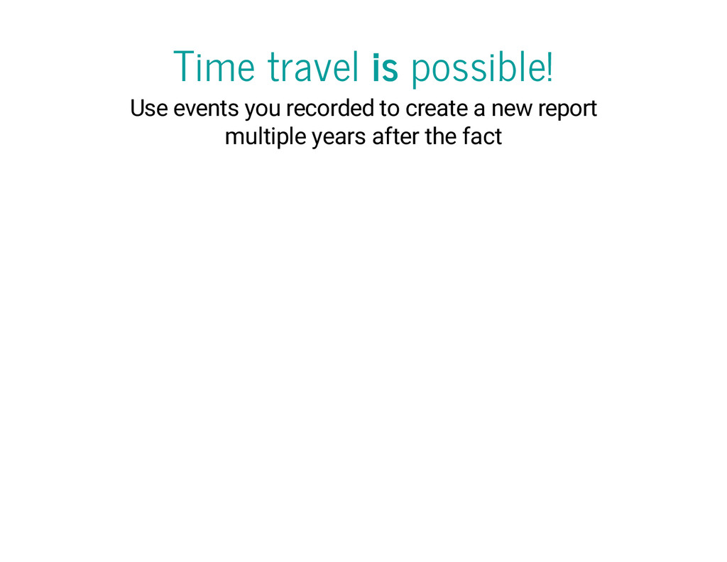 Time travel is possible! Use events you recorde...