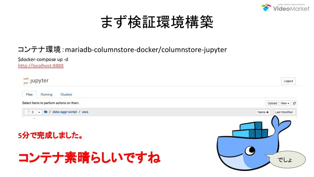 まず検証環境構築 コンテナ環境:mariadb-columnstore-docker/colu...
