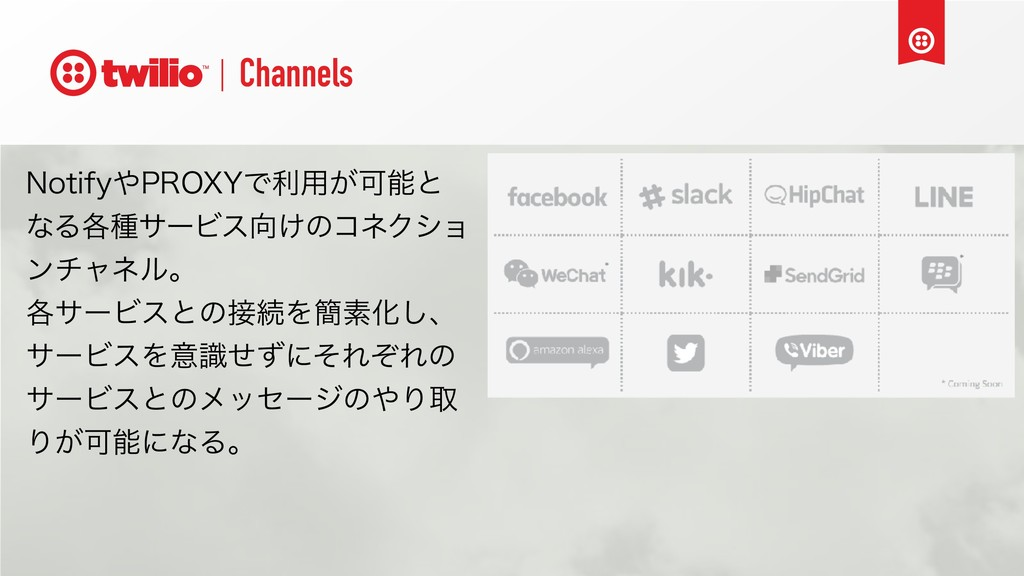 Channels /PUJGZ1309:Ͱར༻͕Մͱ ͳΔ֤छαʔϏε͚ͷίωΫγϣ ϯ...