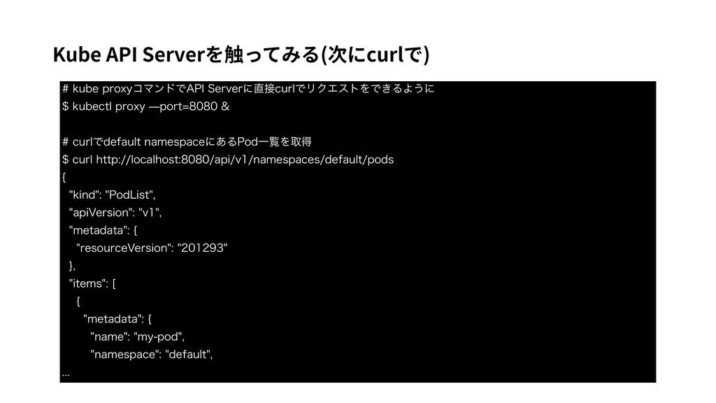 Kube API Serverを触ってみる(次にcurlで) LVCFQSPYZίϚϯυ...