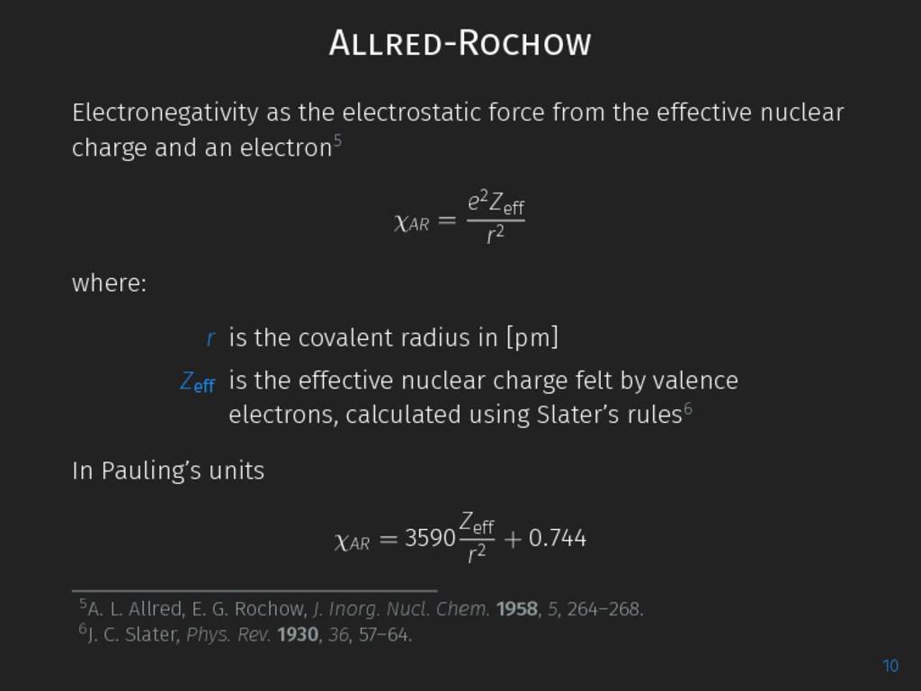 Allred-Rochow Electronegativity as the electros...