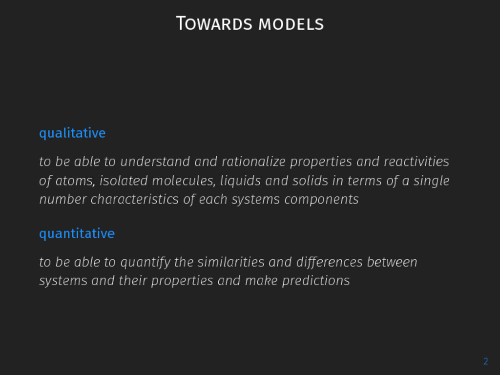 Towards models qualitative to be able to unders...